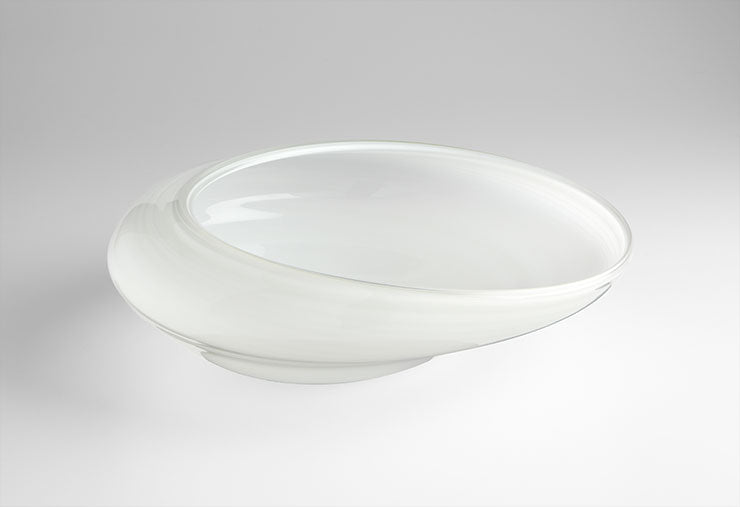 Large White Oyster Bowl