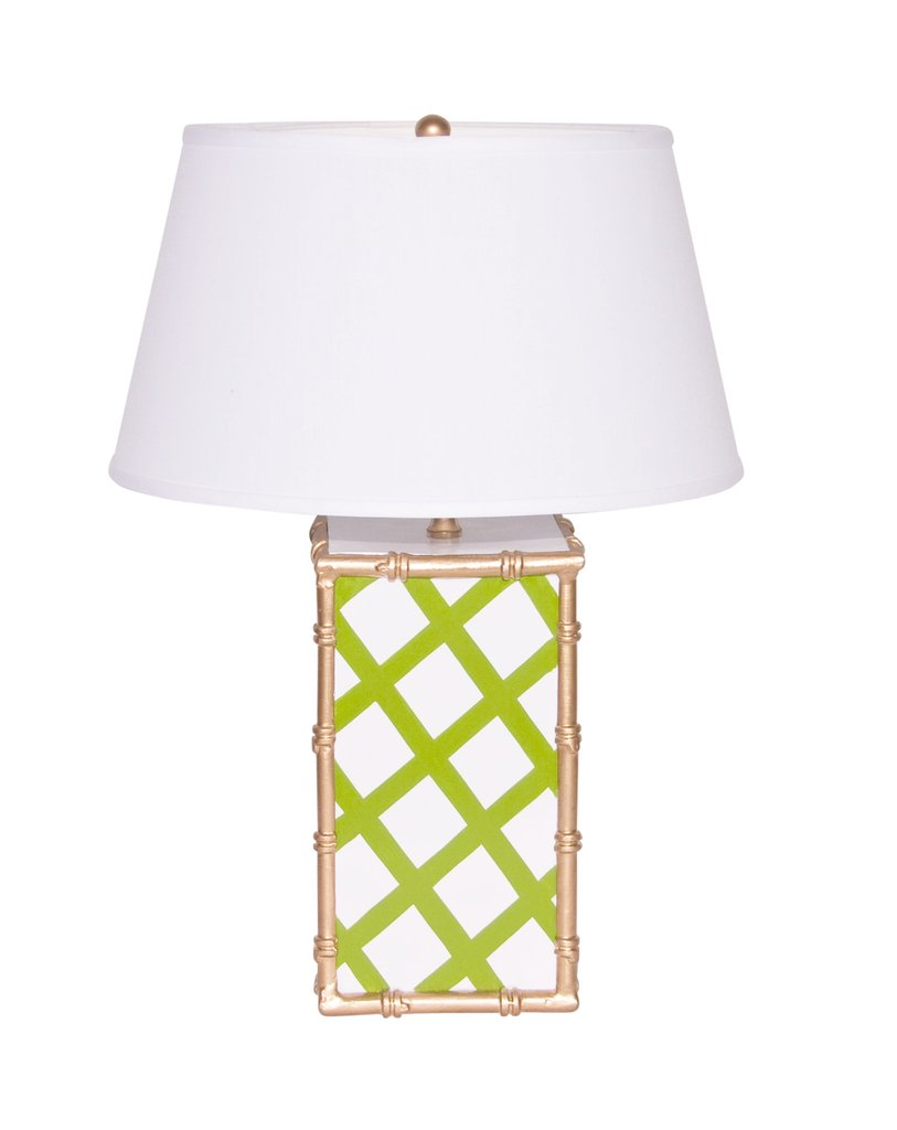 Bamboo Lattice Green Lamp