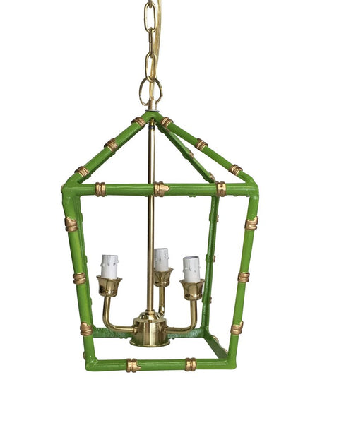 Bamboo Lantern in Green