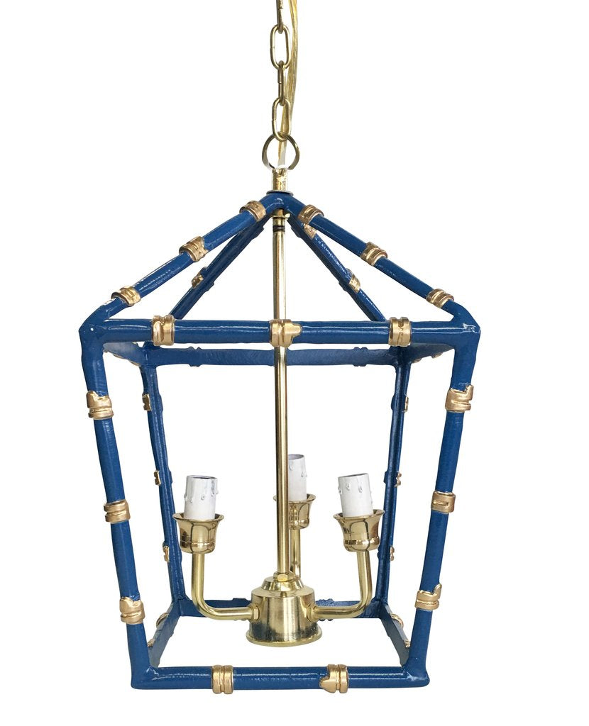 Bamboo Lantern in Navy