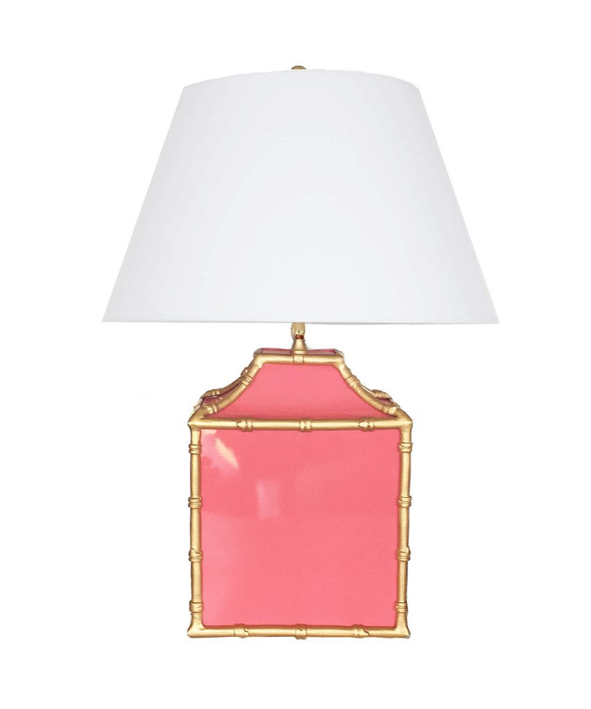 Pagoda Lamp in Pink