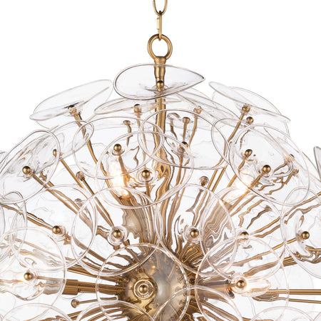 Poppy Glass Chandelier Small