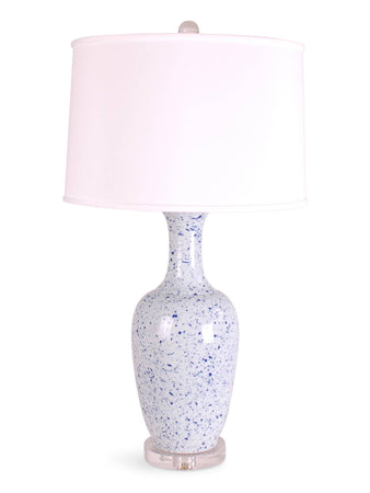 Light Blue Splatterware Vase  Lamp
