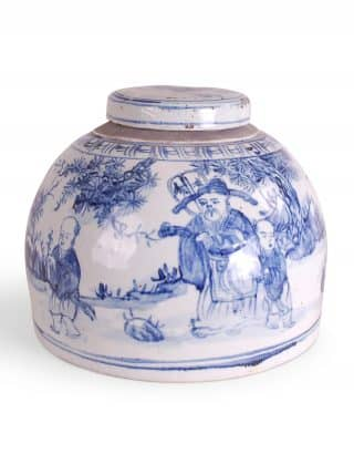 Blue and White Figures Jar
