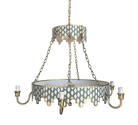 Parsi Chandelier in Grey