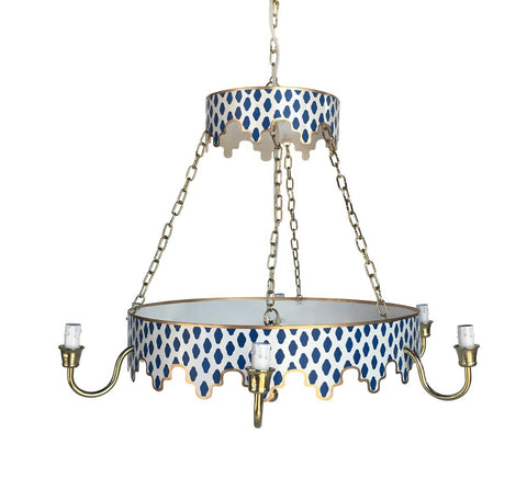Parsi Chandelier in Blue