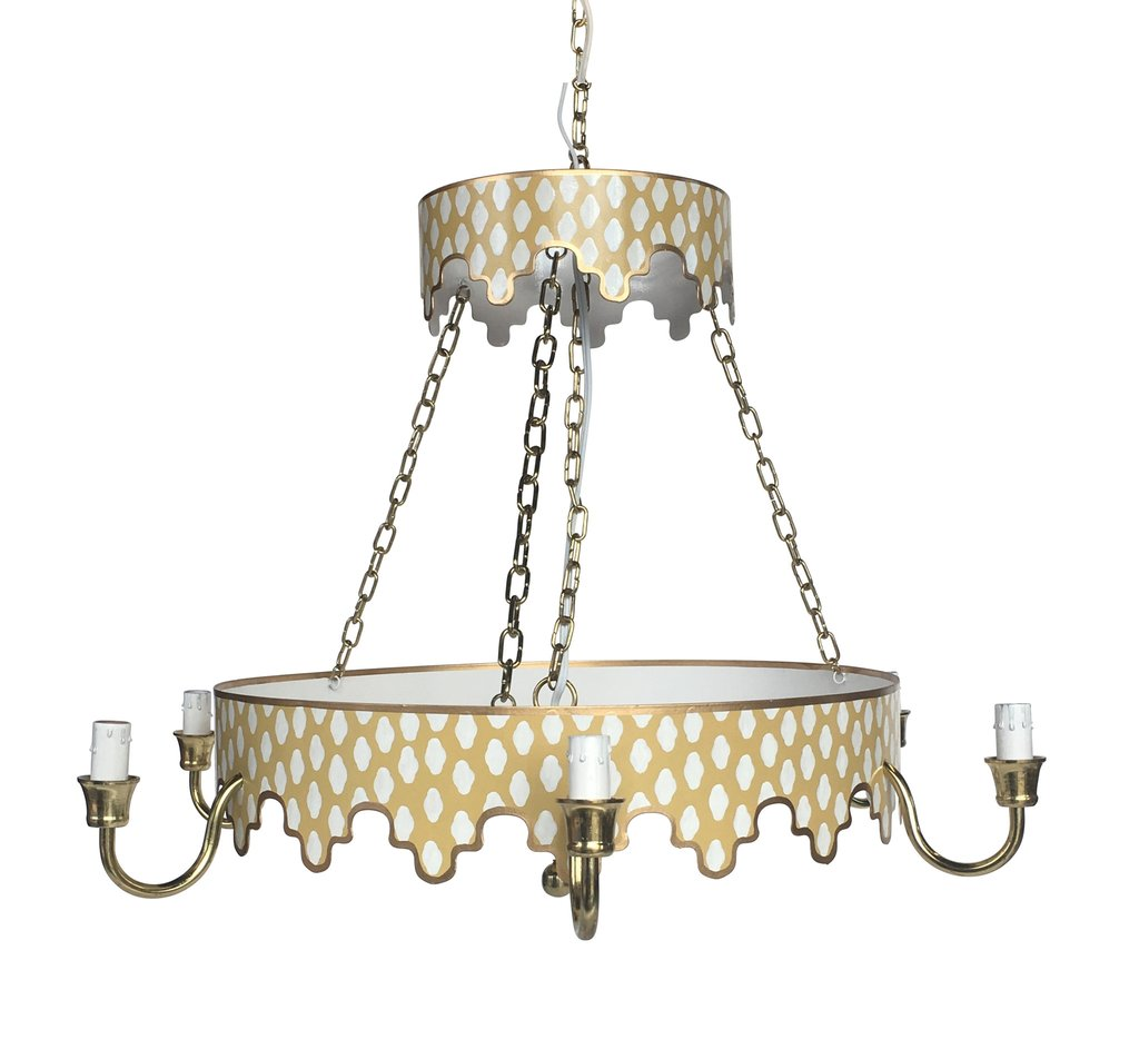 Parsi Chandelier in Taupe