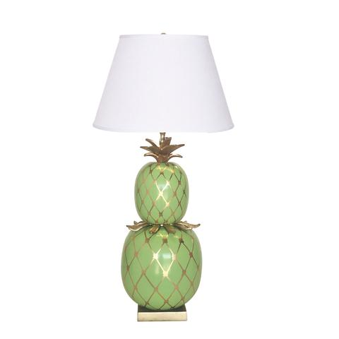 Pineapple Lamp in Green