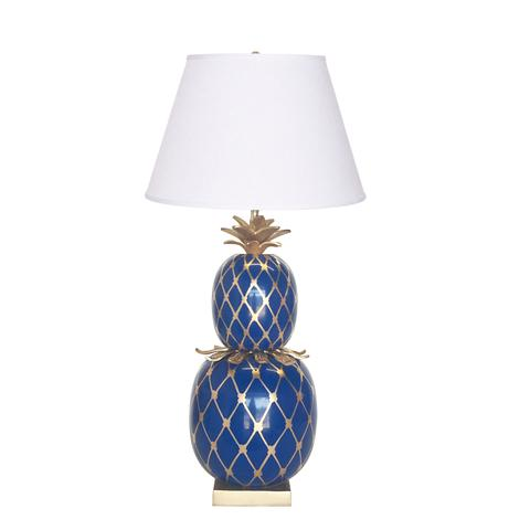 Pineapple Lamp in Navy