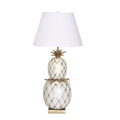 Pineapple Lamp in White