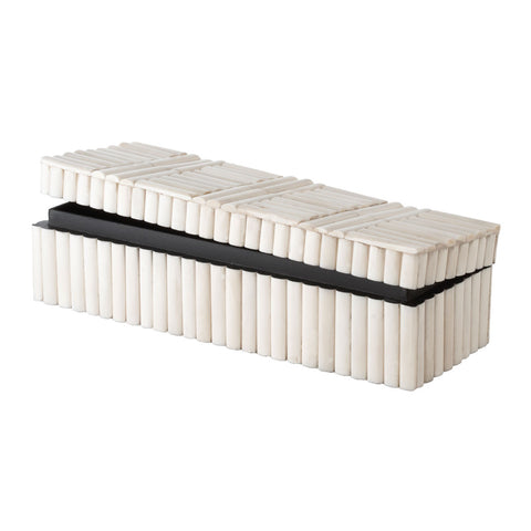 Bone Rod Pattern Rectangular Box