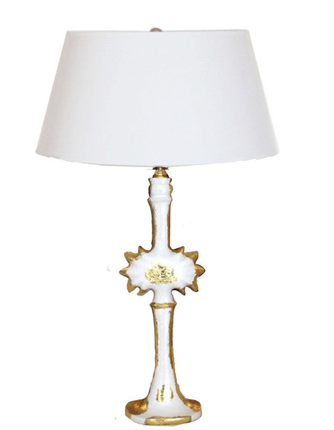 Salutation Lamp in White