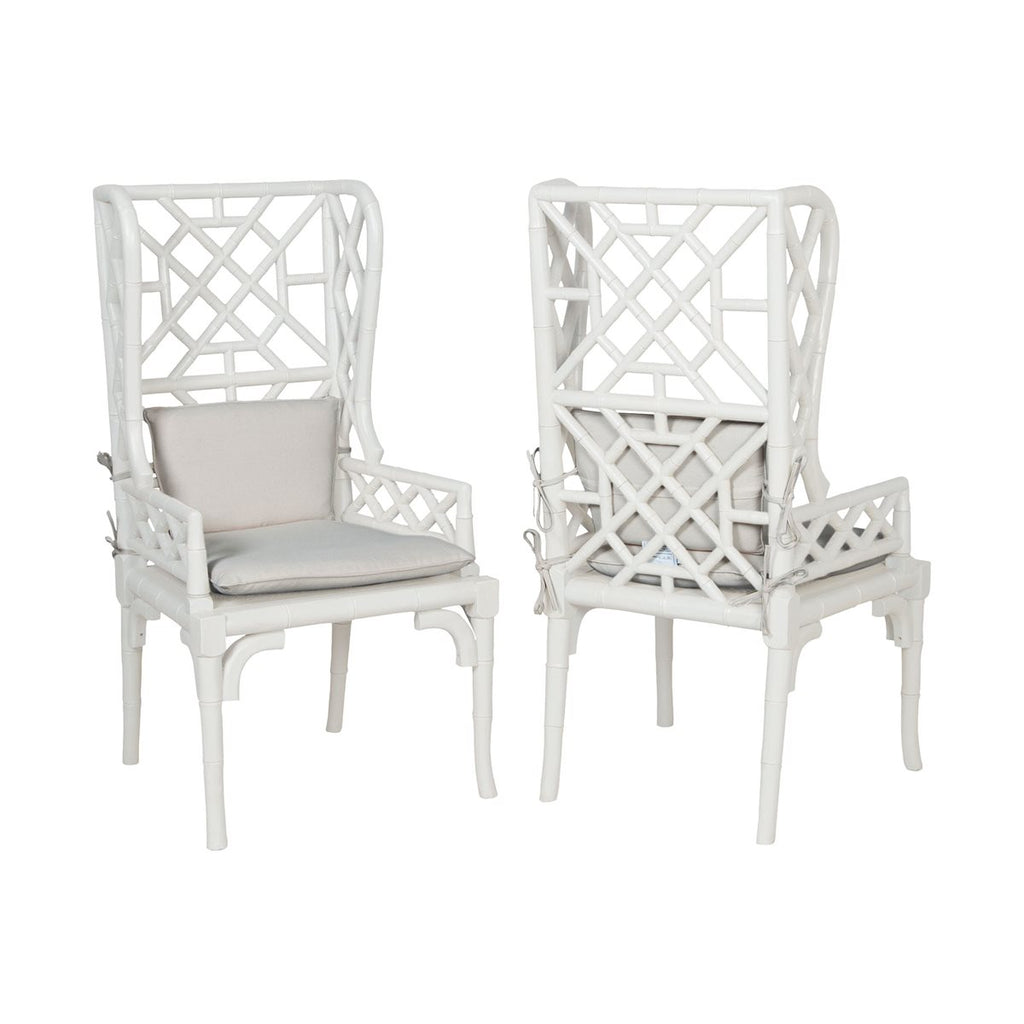 Bamboo Wing Chair Set of 2