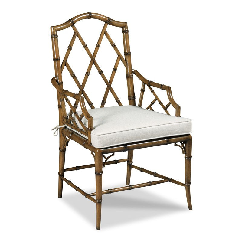 Faux Bamboo Arm Chair