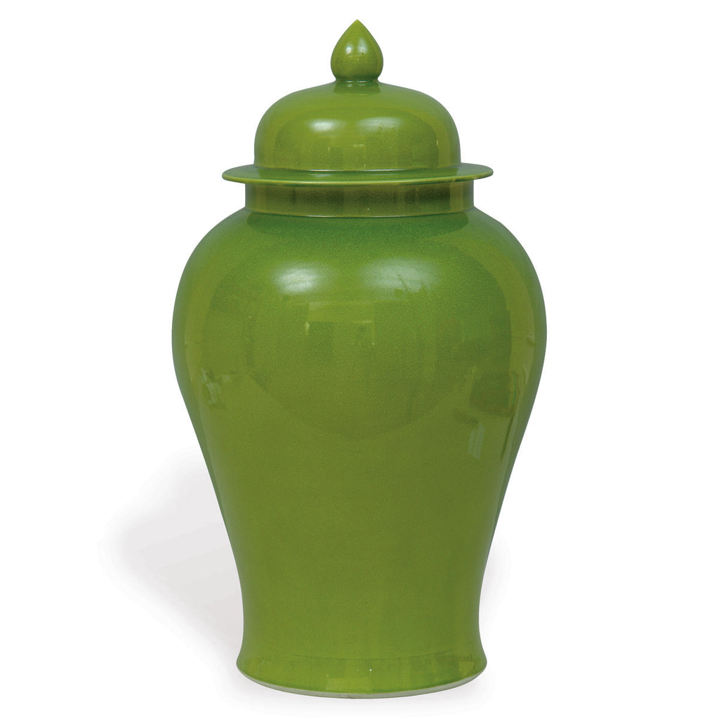 Apple Green Temple Jar