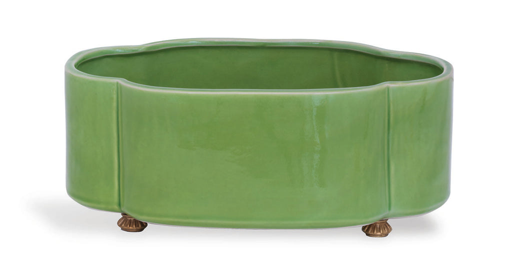 Carol Oval Apple Green Planter