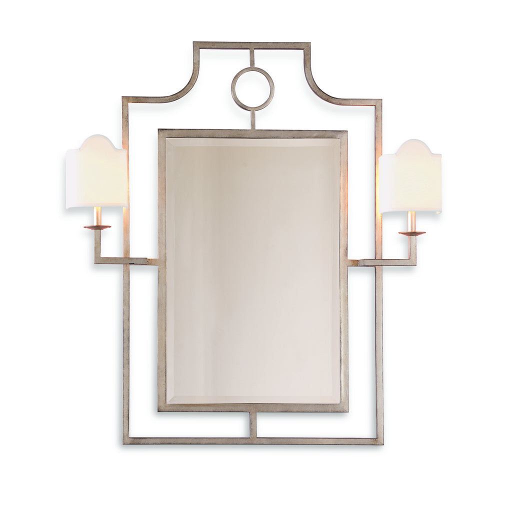 Doheny Silver Mirror with Sconces