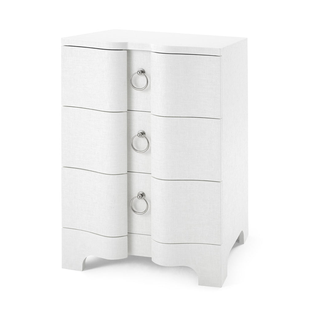 Bardot 3 Drawer Side Table in White