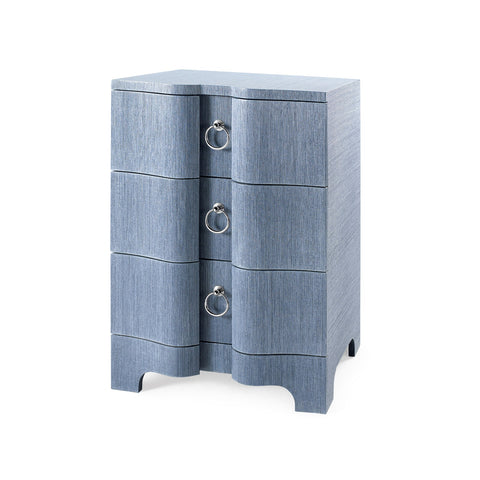 Bardot 3 Drawer Side Table in Navy Blue