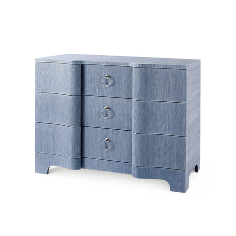 Bardot Large 3-Drawer in Navy Blue