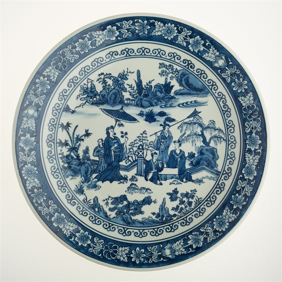 Blue and White Lady Decorative Plate