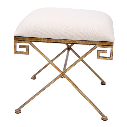 Champagne Greek Key Bench