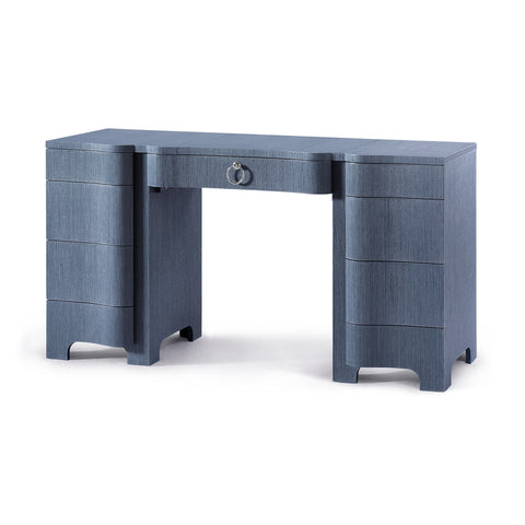 Bouquet Desk in Navy Blue