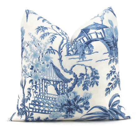 Porcelain Blue Pagoda Pillow