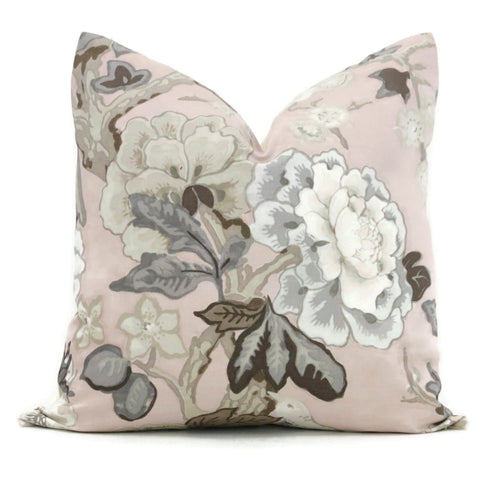 Blush Bermuda Blossoms Pillow