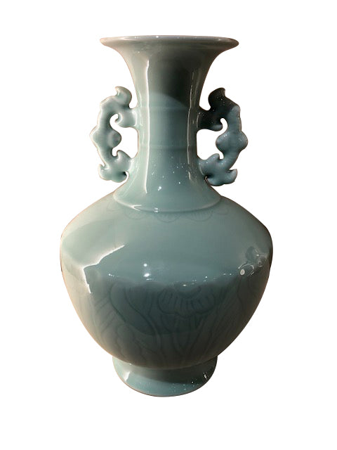 Celadon Vase with Handles