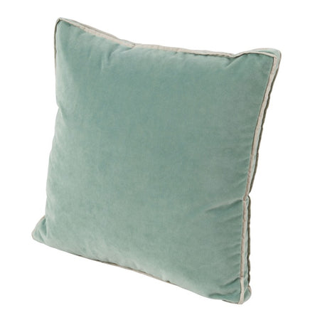 Viridian Velvet with Gusset Double Flange