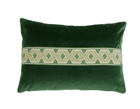 Serena Emerald Lumbar with Green Trim
