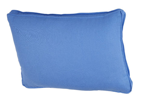Royal Blue Linen Lumbar with Royal Blue Gusset & Flange
