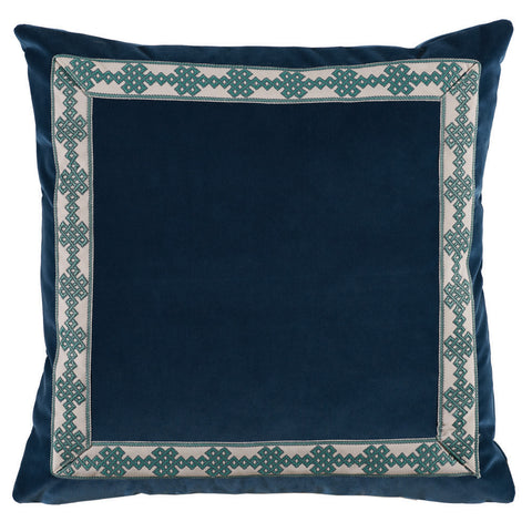 Denim Velvet with Tape Pillow