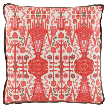 Bombay Geranium Ikat Square Pillow
