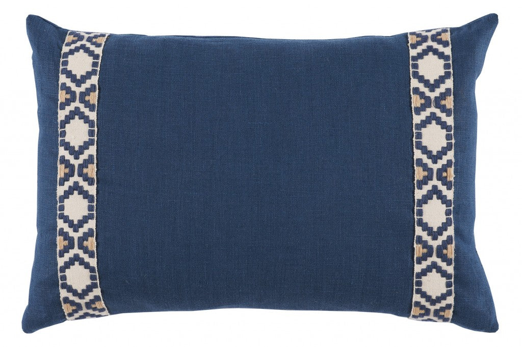 Navy Linen with Tape Lumbar