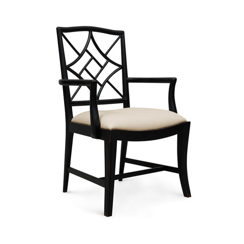 Evelyn Armchair Chair in Black