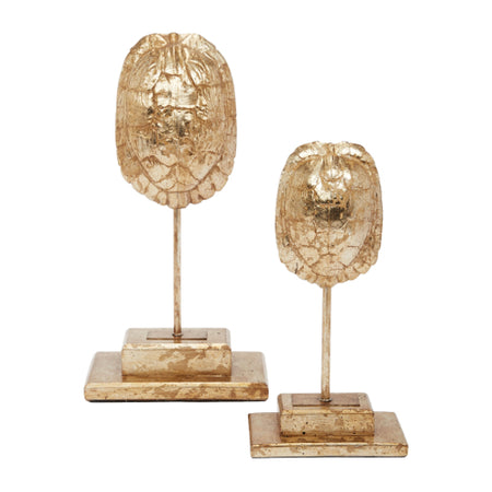 Gold Tortoise Finials, Set of 2