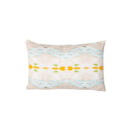 Flower Child Orange Linen Cotton Pillow