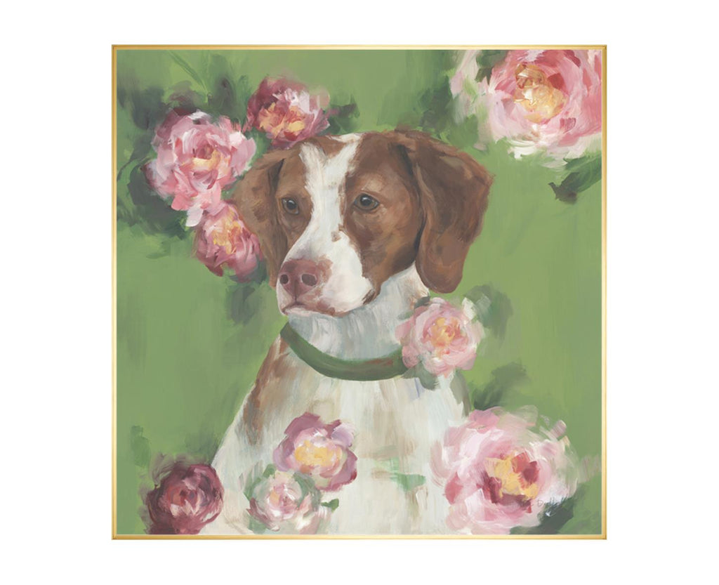 Dog In Flowers I