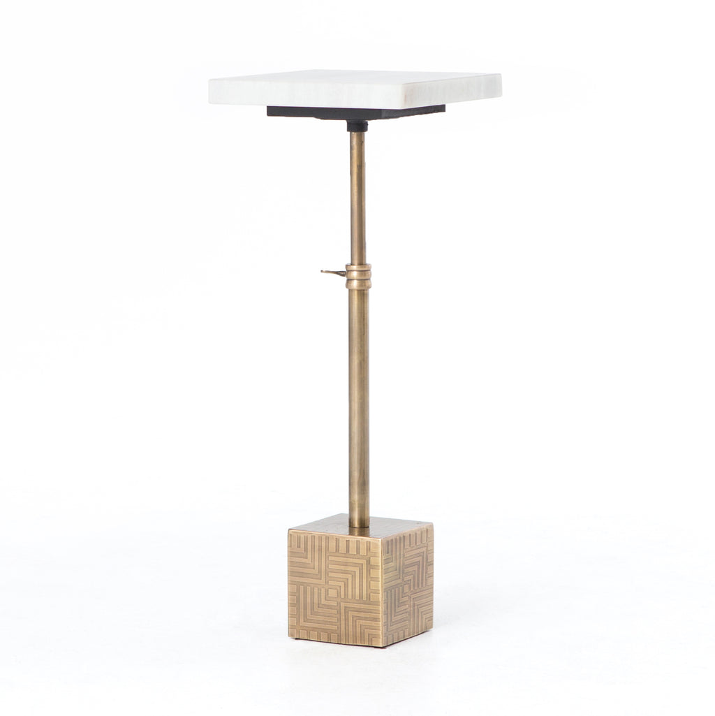 Sirius Adjustable Accent Table Antique Brass