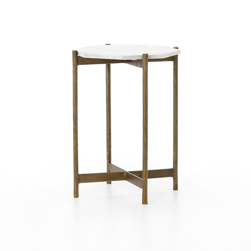 Adair Side Table Raw Brass