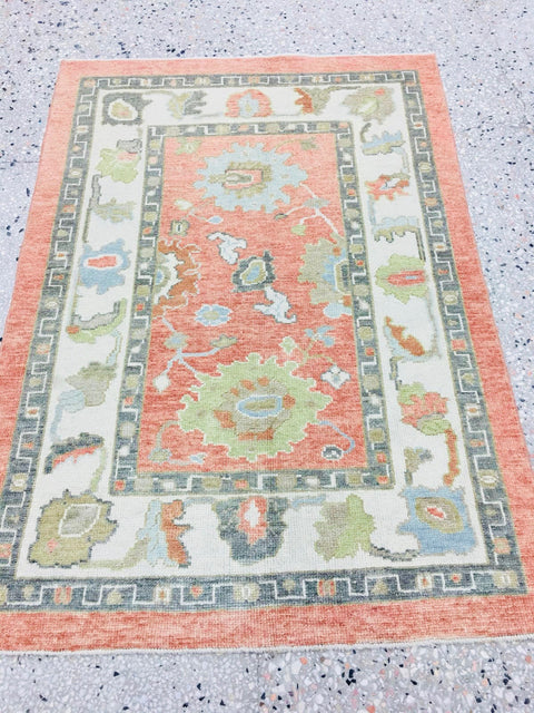 Coral Turkish Rug