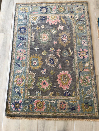 Brown/Blue Oriental Rug #1396