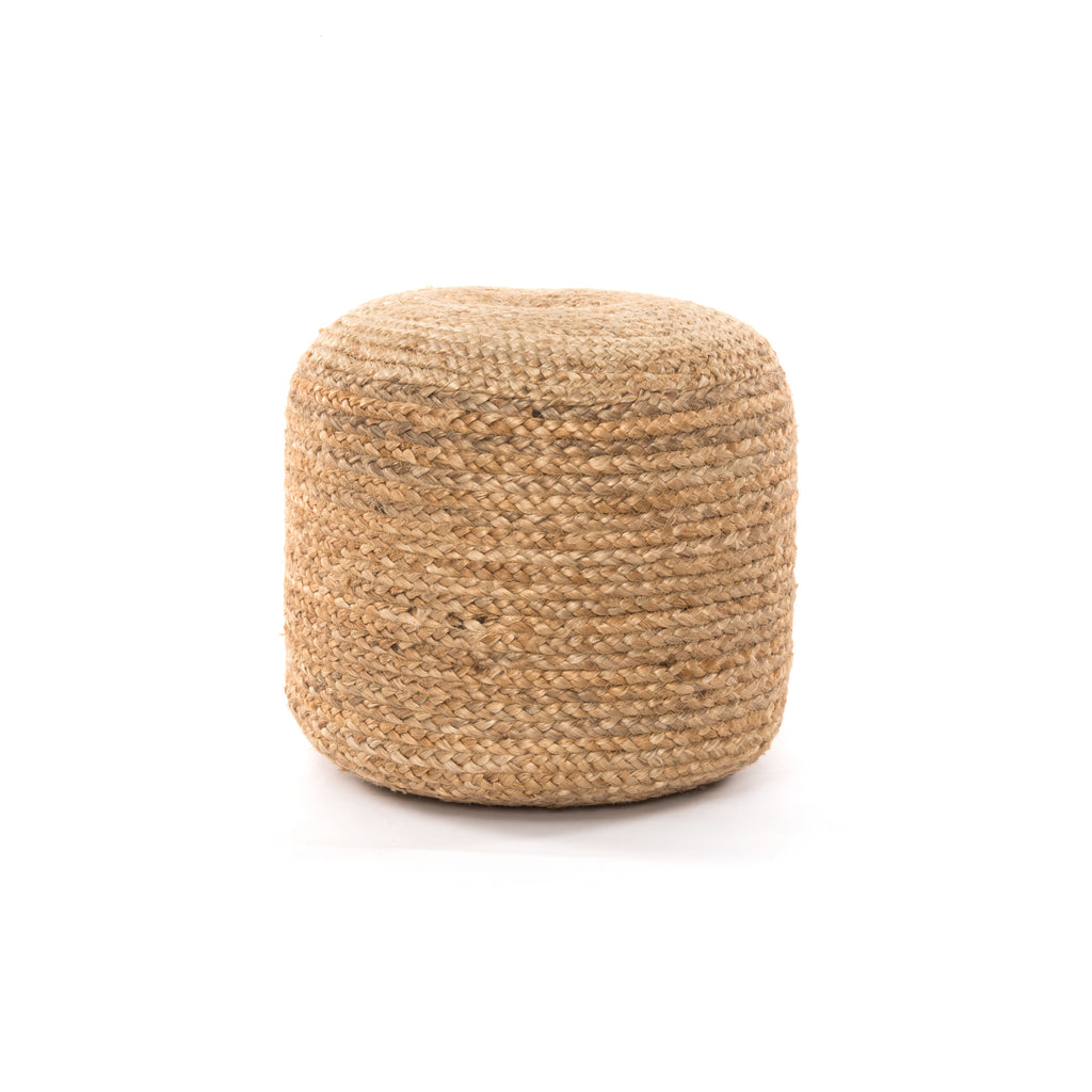 Braided Fringe Pouf