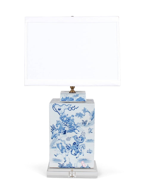 Square Warrior Tea Caddie Lamp