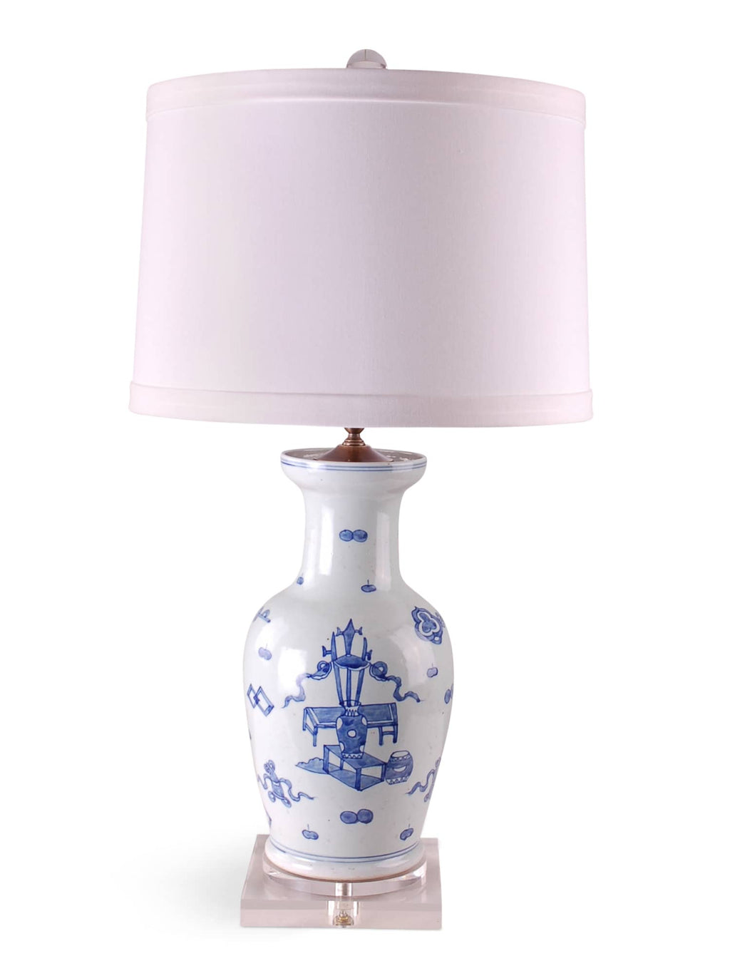Eight Treasures Vase Lamp