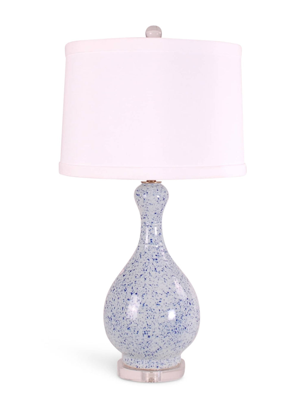Light Blue Splatterware Gourd Lamp