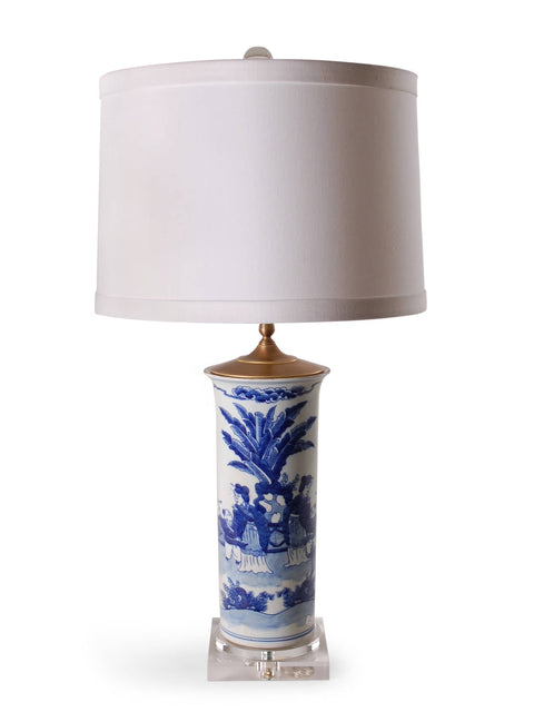 Blue and White Ladies Beaker Lamp