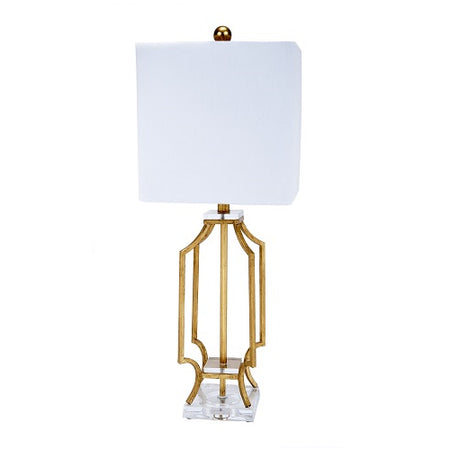 Elise Gold Lamp with Acrylic Base